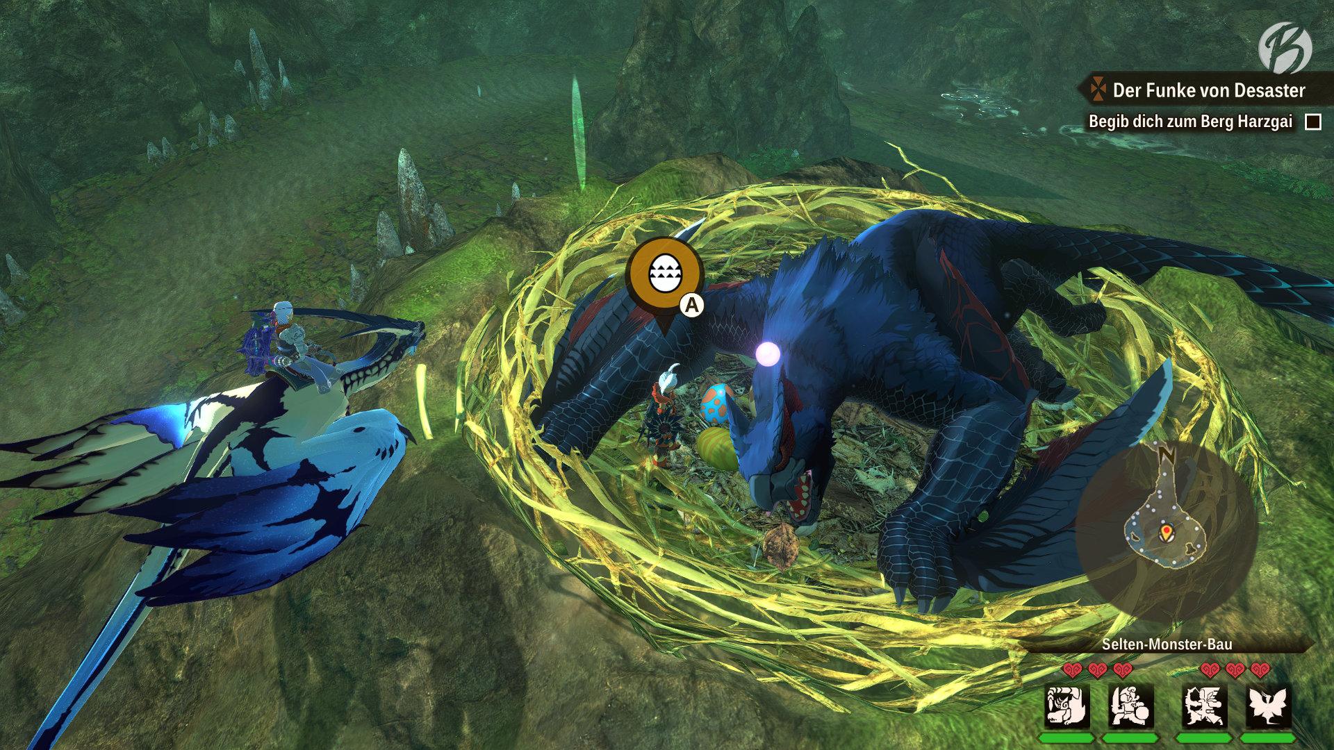Monster Hunter Stories 2: WoR - Das perfekte Ei zu stehlen ist nicht einfach.