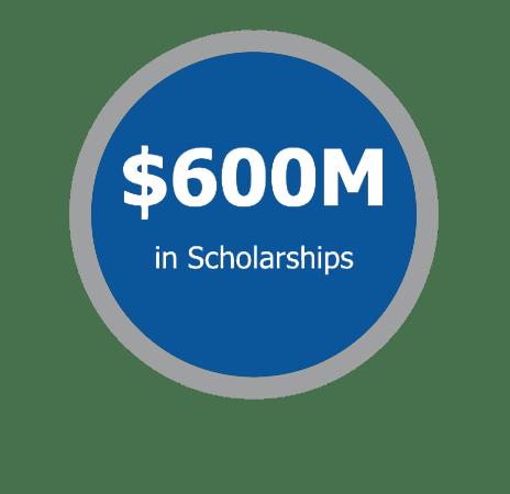 600 M scholarshipsNAIA