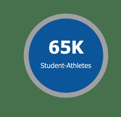 65K athletes NAIA