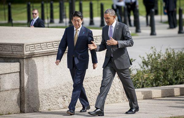 Визит премьер-министра Японии Синдзо Абэ в Вашингтон