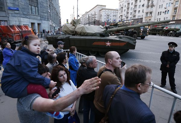 Military hardware heads to Moscow's Red Square for Victory Day Parade rehearsal