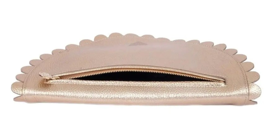 Gold Daisy Clutch Bag Rusi