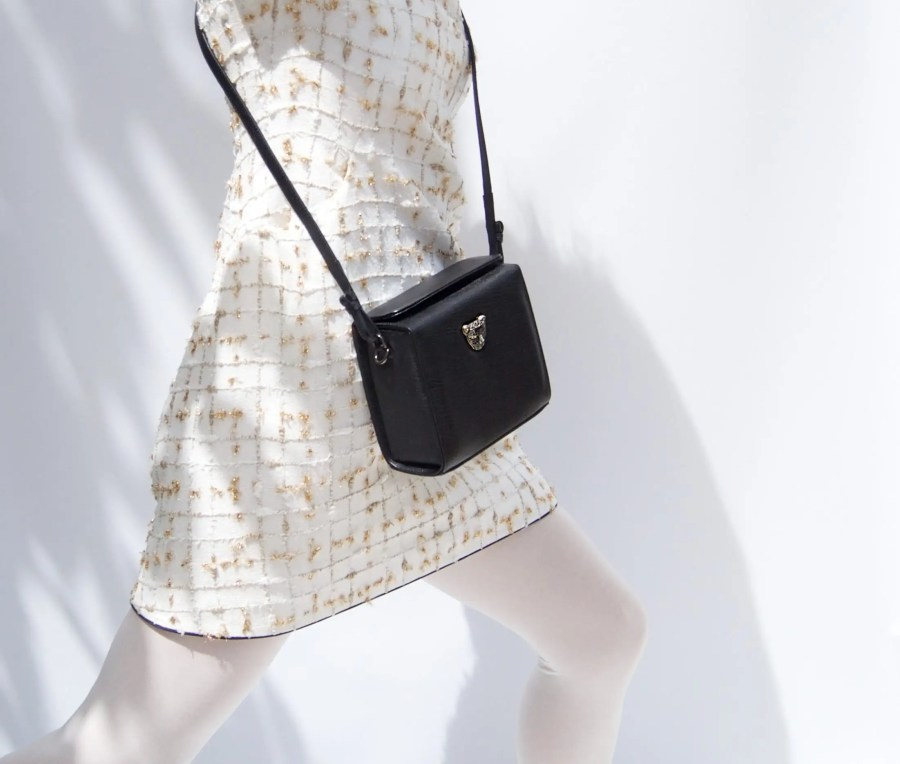 Black MicroB Boxy Bag