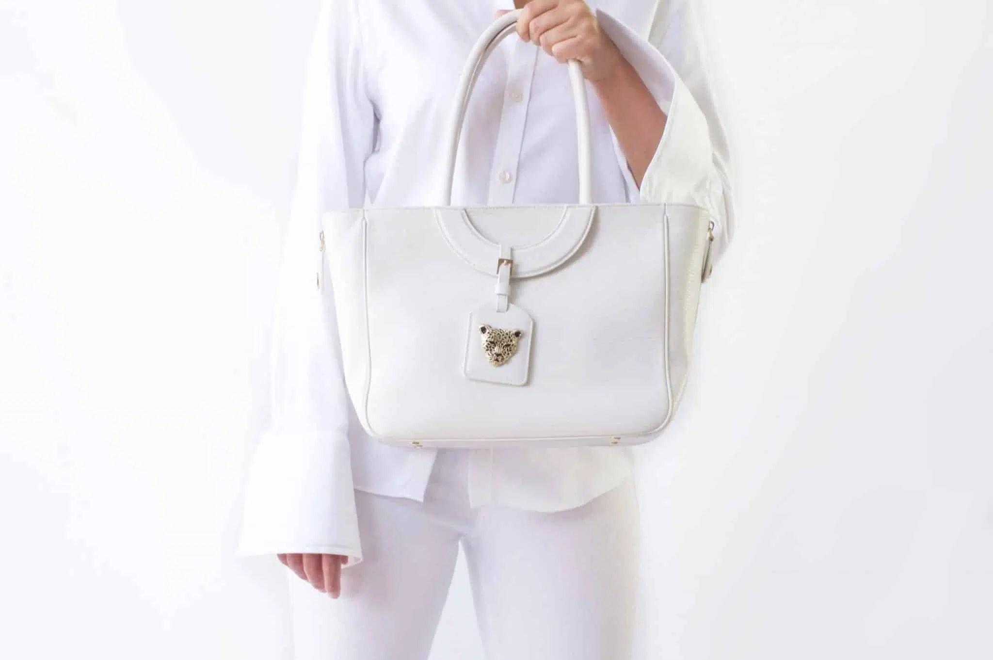 Mezzaluna Tote Bag in White