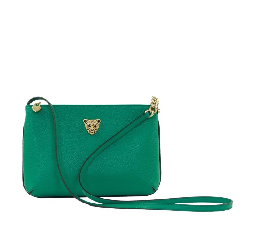 Star 2.0 Bag in Green / Cross Body with Gold Logo