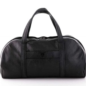 Black Goat Leather Weekend Bag
