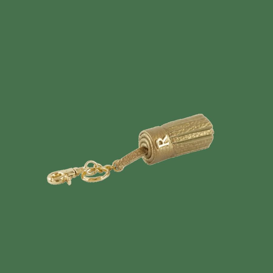 Gold leather Tassel Keyring