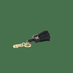 Black Leather Tassel Keyring