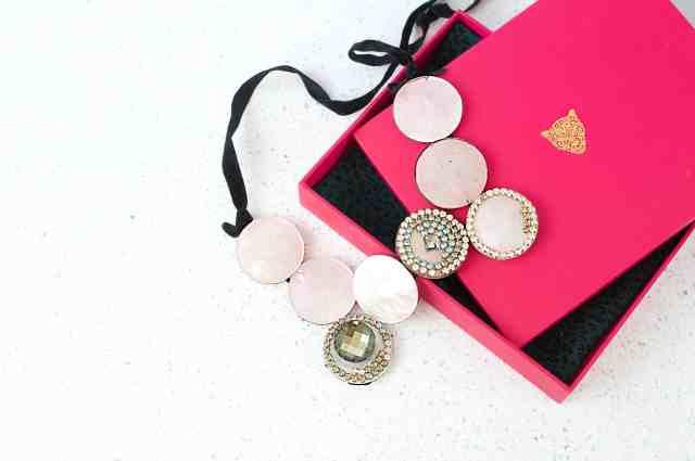 Big Moon Necklace w pink box 2