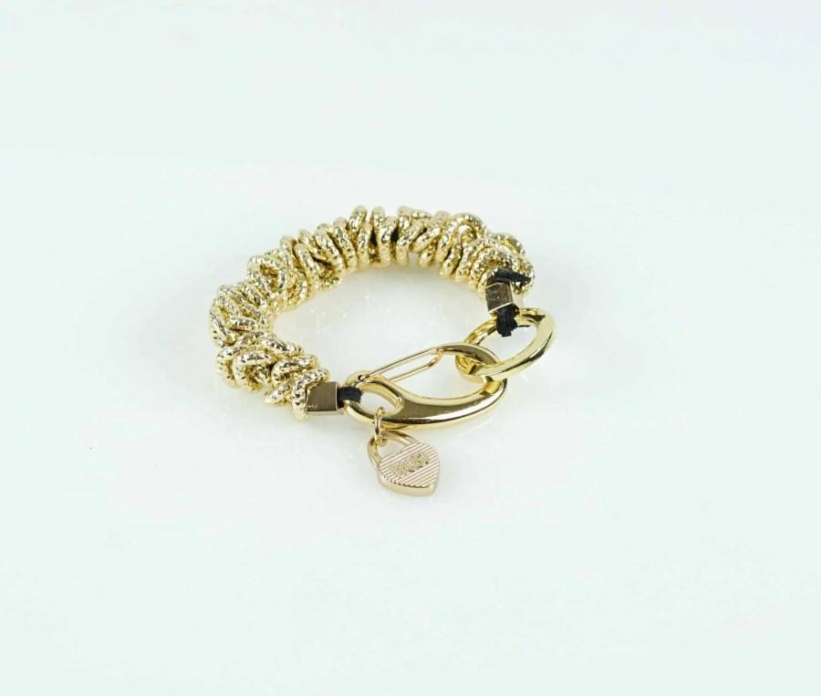 Shiny Gold Caterpillar Bracelet 4 scaled e1602449736242