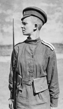 Девушка-доброволец, Первая мировая война