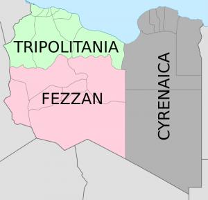 Съставните части на Либия – Триполитания, Киренайка и Феззан