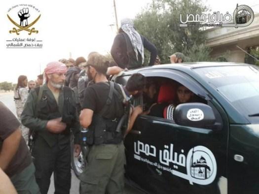 Части от Хомс, участващи в успешната офанзива в Южна Хама в началото на август 2016.
