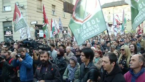 Картинки по запросу будапешт митинг против беженцев