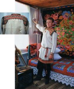 Мужской народный праздничный костюм Коротоякского уезда.