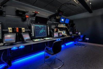 Russ Bassett - Air Traffic Control - Console Workstation with Ambient Lighting -McCarran 10