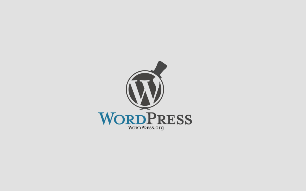 WordPress Logo With A Mustache & Top Hat