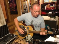 Mark Stanley with his resonator...