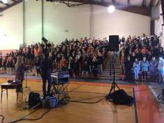 School assembly outside of Thomasville, AL