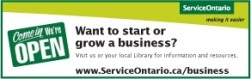Click for info from Service Ontario