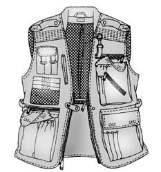 Multi-pocketed photographer's vest