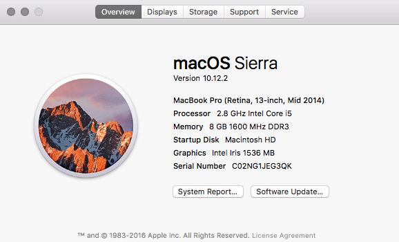 Macbook Pro Details