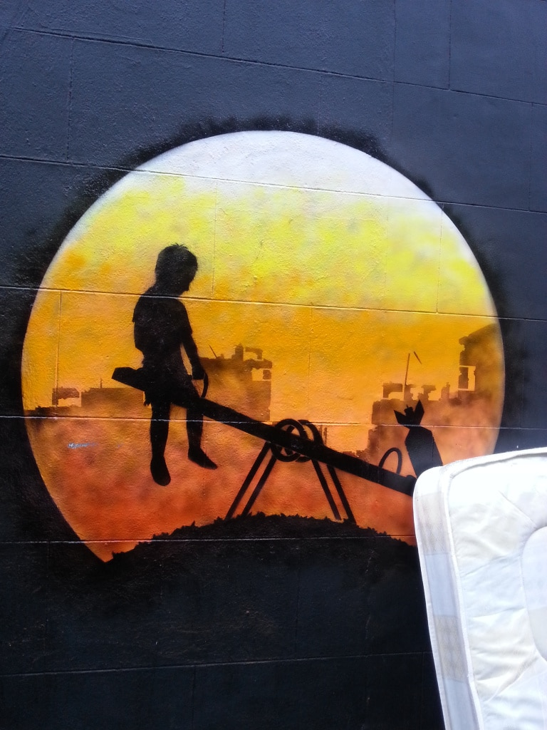 How to layer a street art piece together