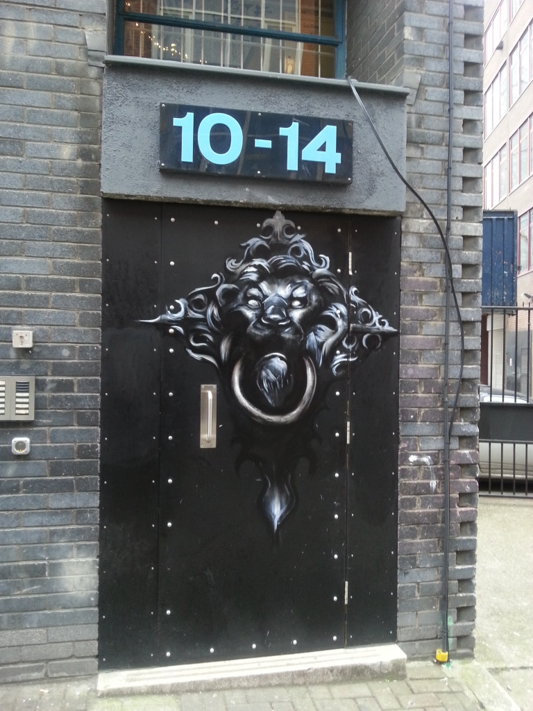 A door knocker