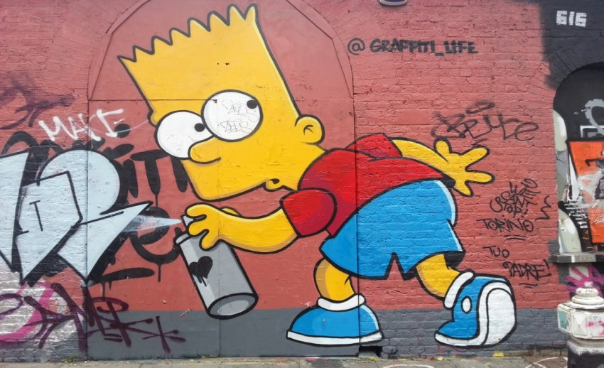 Bart Simpson graffiti artist