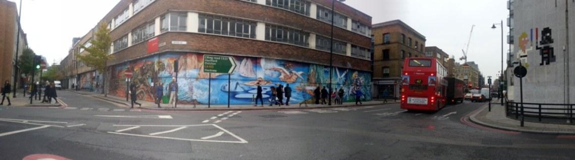 Space Invader artwork in London