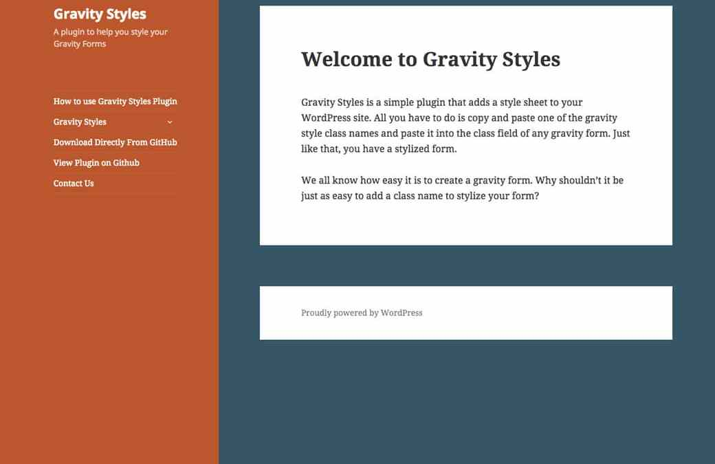 My First Plugin: Gravity Styles