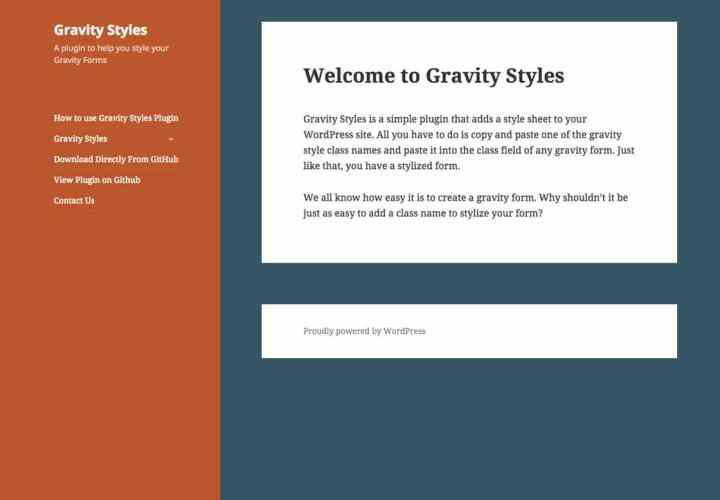 My First Plugin: Gravity Styles