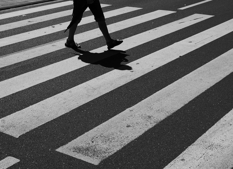 Crosswalks are there for a reason