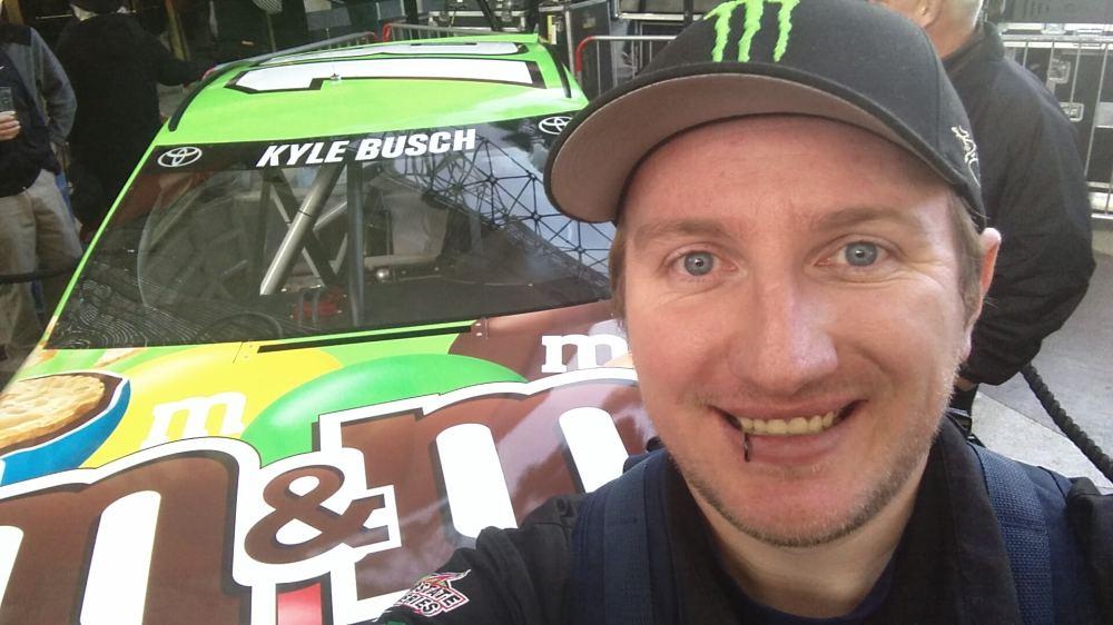 Russell Aaron Kyle Busch Car Fremont Street