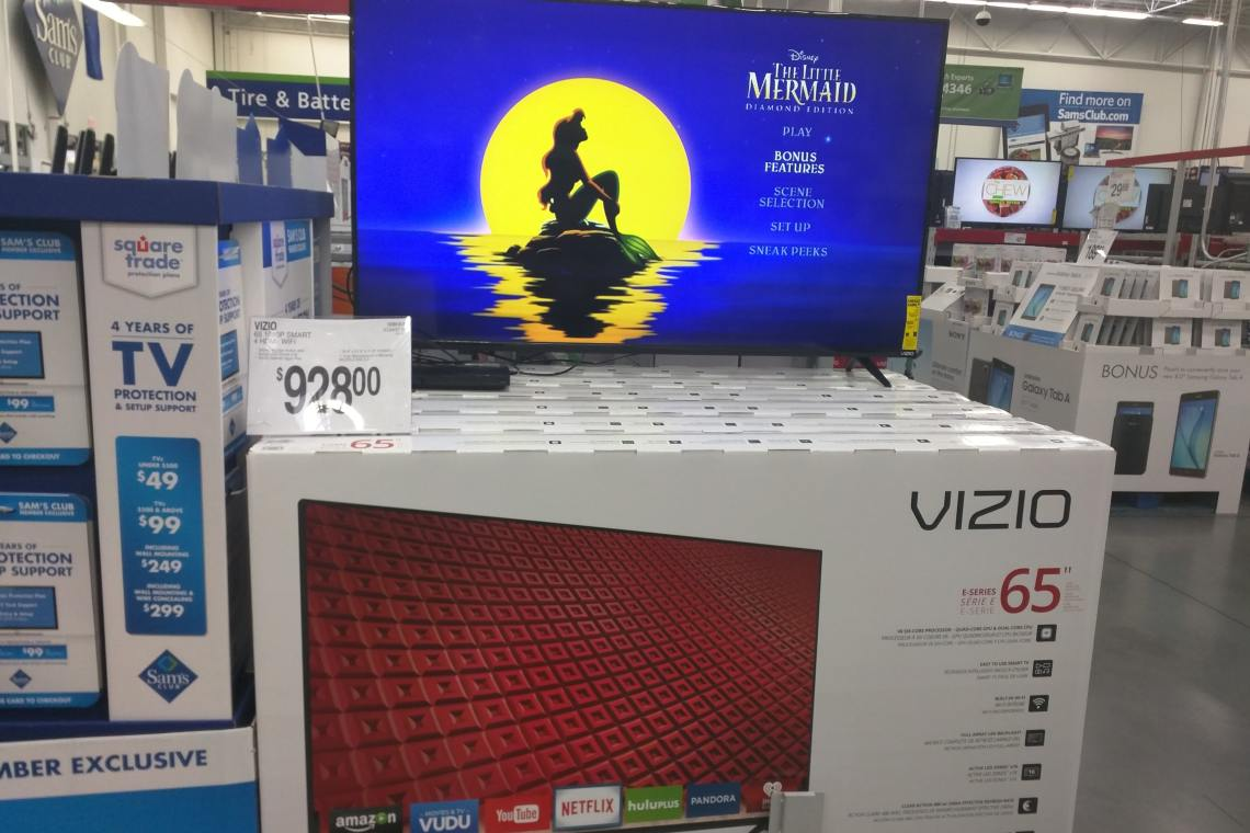 65 inch vizio price at sams club 2016