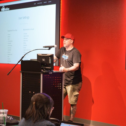 John Hawkins presenting at a meetup
