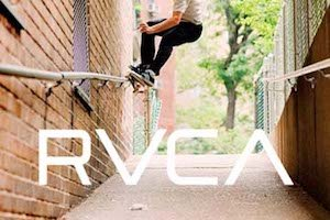 Advertising banner for RVCA Clothing