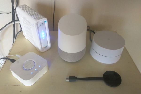 Google Home, Wifi, Chromecast and Phillips Hue devices