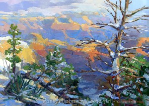 Grand Canyon oil painting by Russell Johnson