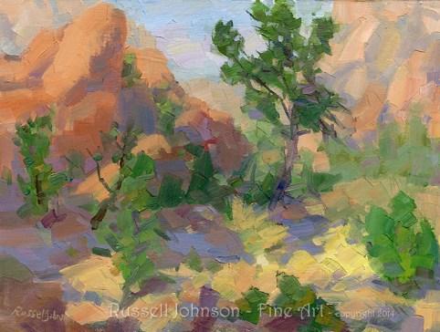 Prescott Landscape Oil Painting by Russell Johnson