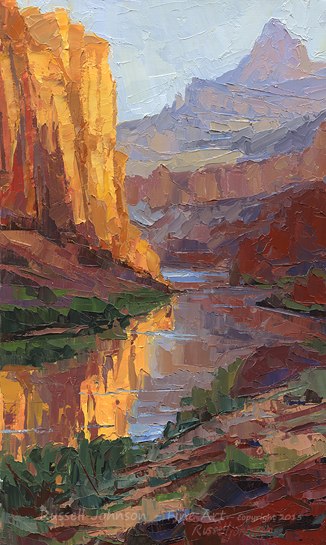 Russell Johnson grand canyon painting