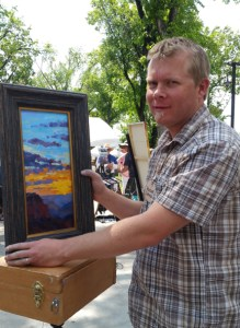 Russell Johnson quick draw painter