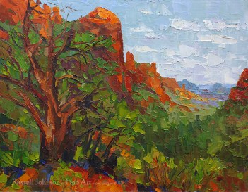 Russell Johnson landscape oil painting