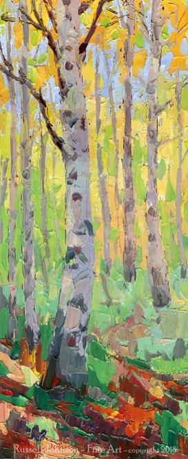 Russell Johnson aspen tree artist
