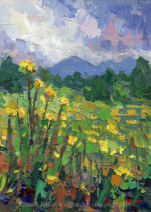 Russell Johnson landscape oil painter