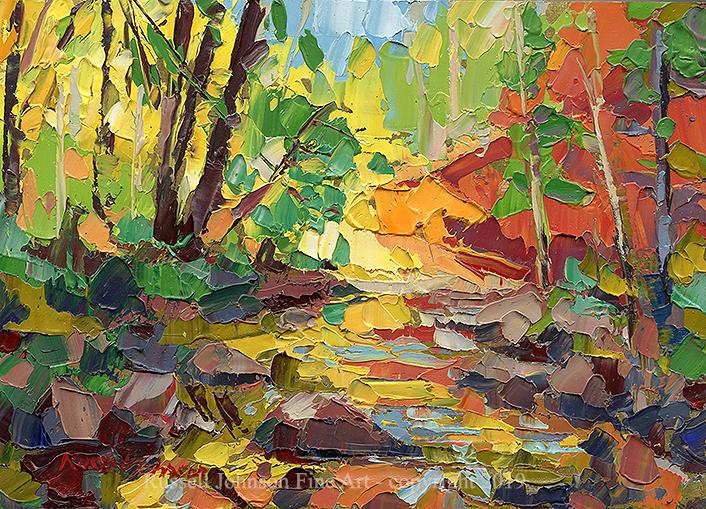 Russell Johnson palette knife oil painting