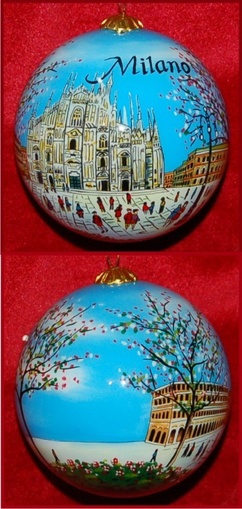 For The Love Of Italy Milan Christmas Ornament
