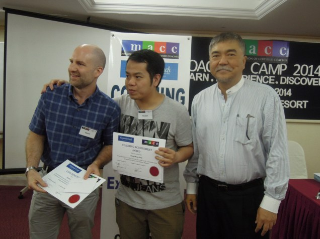 Dan with my coachee Reuben and MACC President Stanley