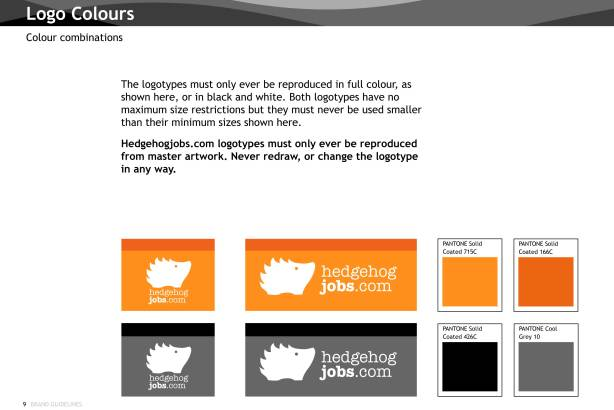 HedgeHogjobs.com - Logo colours