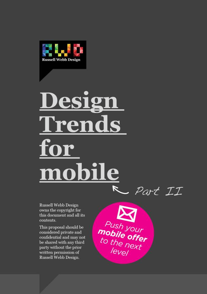 Design Trends For Mobile - Part2 - Progressive Disclosure